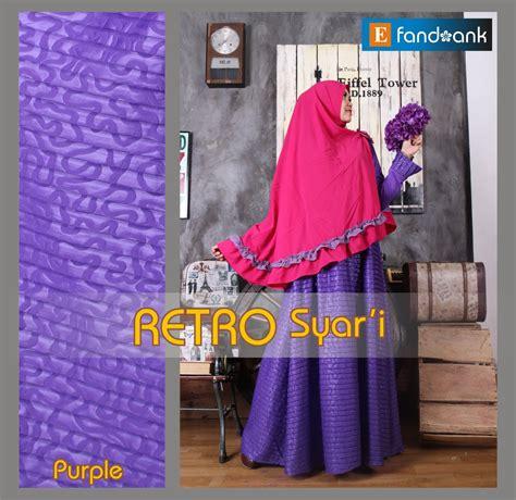 Gamis Fataya Syar I Purple retro syar i purple baju muslim gamis modern