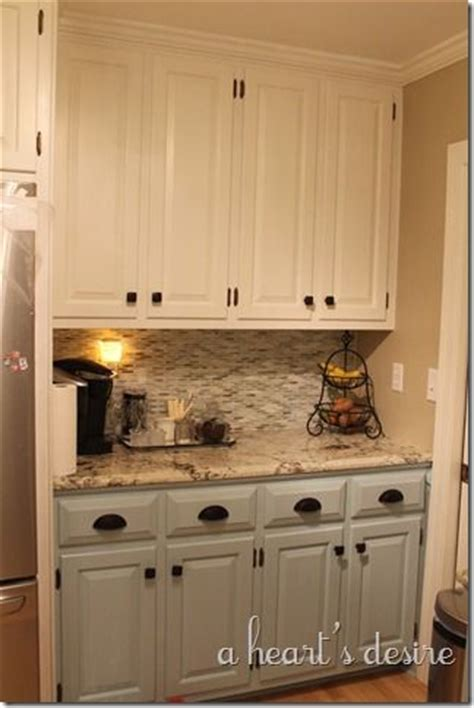 cabinet paint top behr swiss coffee bottom benjamin gossamer blue granite is cosmos