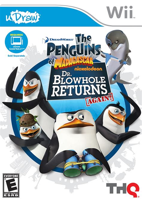 Wii U Penguin Of Madagascar Reg 1 Penguins Of Madagascar Dr Blowhole Returns Nintendo Wii