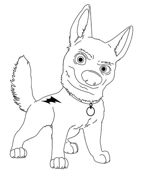 coloring pages of bolt the dog walt disney bolt coloring pages batch coloring