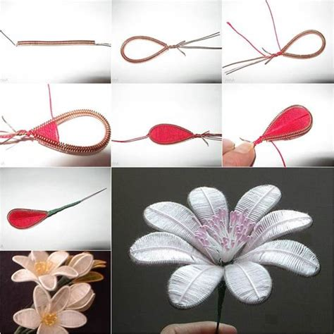 Artificial Paper Flower Making Tutorial   how to diy beautiful flowers from wire and thread