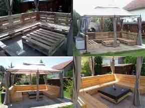Pallet Furniture Patio U Shaped Pallet Patio Furniture Set Diy Cozy Home