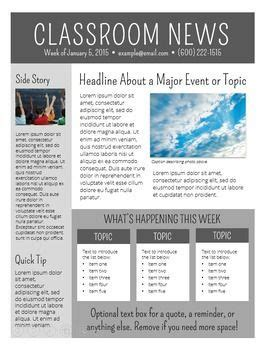 Newsletter Templates Editable Class News Pinterest Newsletter Templates Templates And Newsletter Outline Template