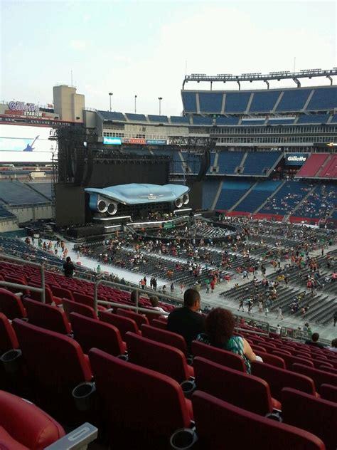 gilette stadium seats gillette stadium section cl7 concert seating