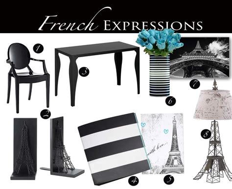 paris inspired home decor french expressions parisian themed home office