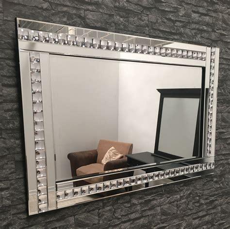 large clear glass framed mirror 120 x 80cm ebay