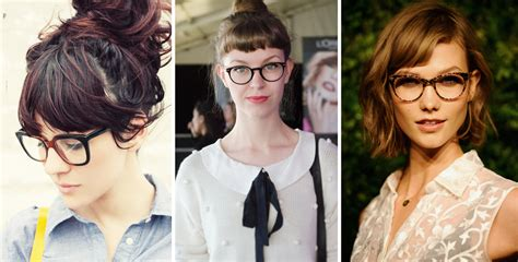hairstyle ideas   small forehead  glasses women