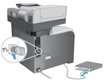 hp laserjet 500 color mfp m575 hp laserjet enterprise 500 color mfp m575 verbinden des