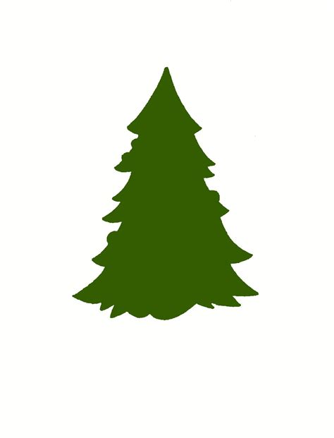 christmas tree silhouette clipart best