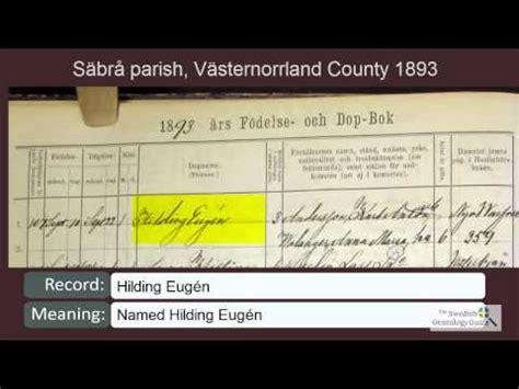 Swedish Birth Records Reading Swedish Birth And Christening Records 1893