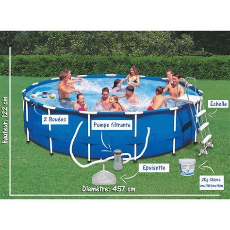 piscine semi rigide 6087 pack piscine tubulaire semi rigide h 122cm x 216 457cm
