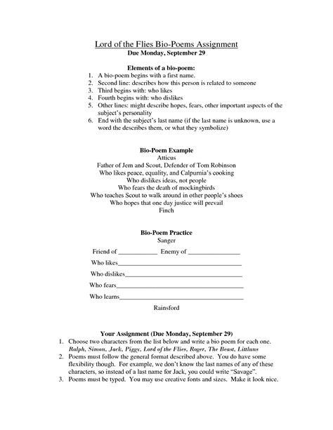 bio poem worksheet facialreviveserum com bio poem exles high school best photos of bio poem