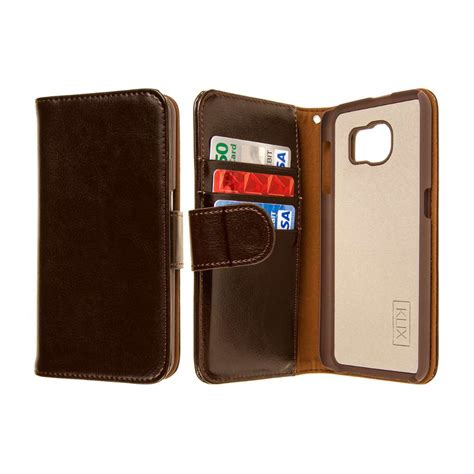 New Flip Shell Samsung Galaxy Pocket Leather Sarung Hp Flipshell for samsung galaxy s6 genuine leather wallet credit card flip pocket cover