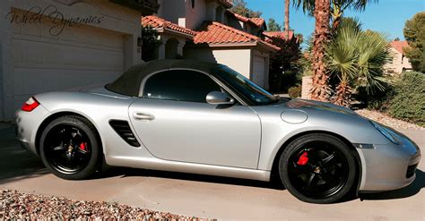 Porsche Boxster Felgen by 987 Boxster With 19 Quot Fuchs In Matte Black Wheel Dynamics