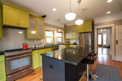 eclectic kitchen cabinets se house remodel eclectic kitchen portland by