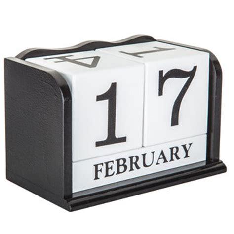 Calendar Blocks Black White Wood Calendar Block Decor Hobby Lobby 235986