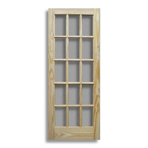 pine interior door 15 lite 28 quot w home surplus