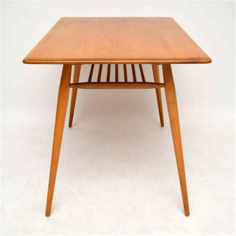 retro elm dining table and chairs by ercol vintage 1960s