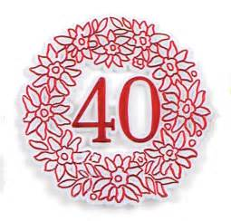 Floral Supplies Vases 40th Anniversary Picks Red 12 Package