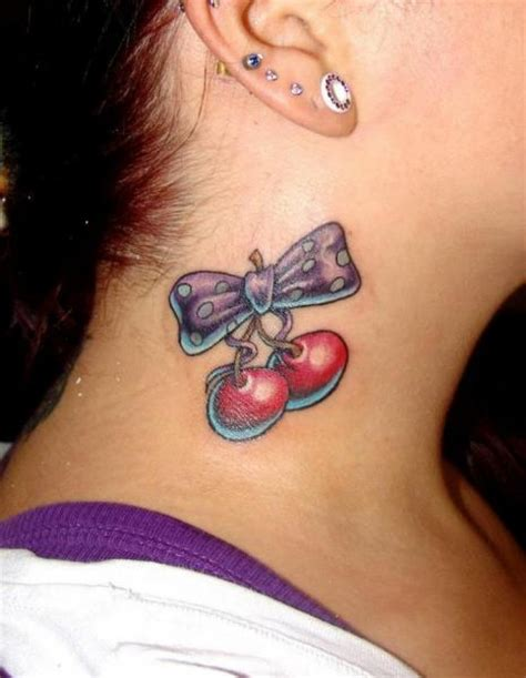 ribbon tattoo on neck schleife tattoo pictures to pin on pinterest