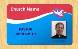 Church Id Card Template by Church Id Templates