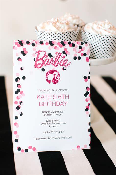 printable birthday invitations barbie barbie birthday party with free printable barbie designs