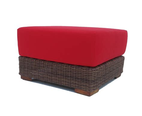 outdoor wicker ottoman wicker ottomans whitecraft by woodard sonoma wicker