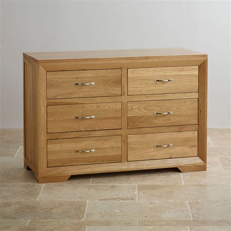 6 Chest Drawer by Bevel 6 Drawer Chest In Solid Oak Oak Furniture Land