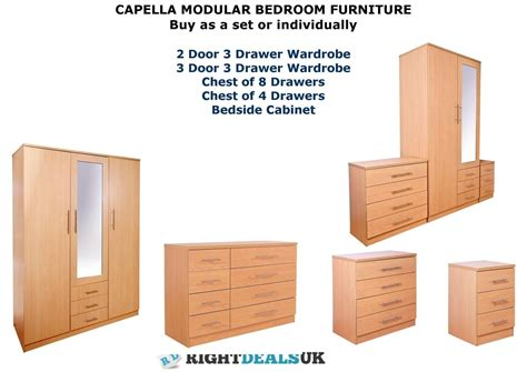 Capella Beech Large Modular Bedroom Furniture Sets Beech Bedroom Furniture Uk