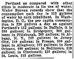 meter readers from the portland water bureau pwb portland s water system 100 years ago the summer of