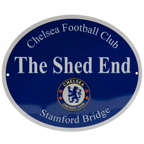 Shed Chelsea Fc by Chelsea Fc Shed End Sign Merchandise Cfc Football Gifts