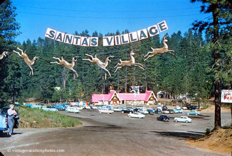 click on the above image for a larger view of our blue vintage vacation photos santa s village 1958