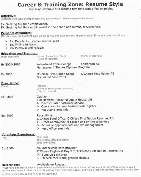 Sample Camp Counselor Resume by Resume Example Resume Cv