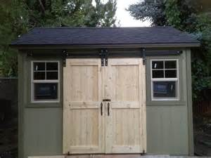 sliding barn doors sliding barn doors on shed