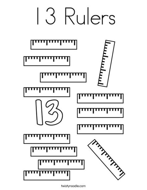 free coloring pages of centimeter ruler 13 rulers coloring page twisty noodle