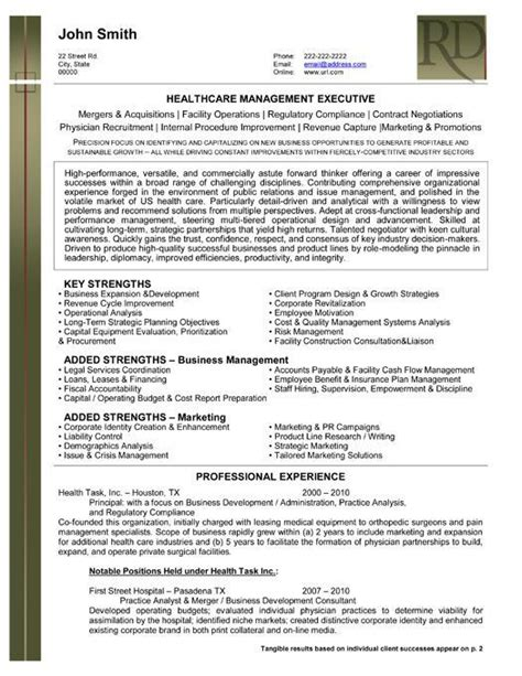Resume Template For Healthcare Professionals Click Here To This Health Care Management Resume Template Http Www