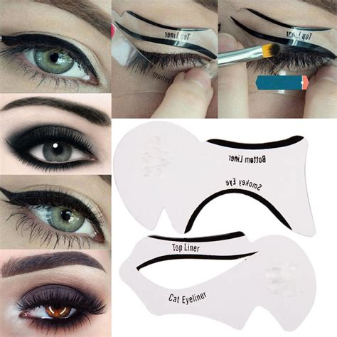 eyeliner template 12pcs makeup cat eyeliner guide smokey eye stencil models