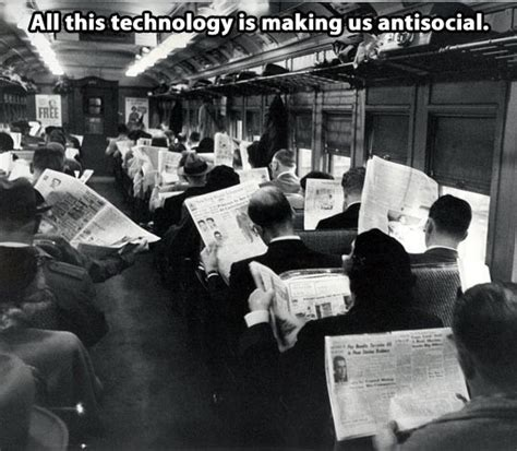 Cell Tech Meme - stop sharing this photo of antisocial newspaper readers