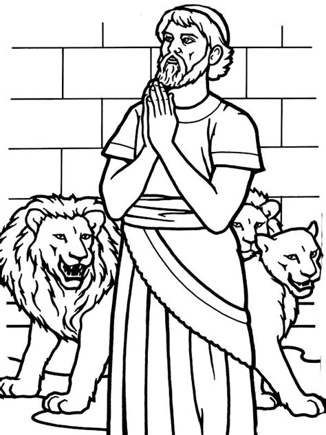Daniel Praying Coloring Pages by Free Daniel Praying Coloring Pages