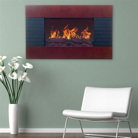 electric in wall fireplace northwest 35 in electric fireplace with wall mount and remote in mahogany 80 ef422s the home