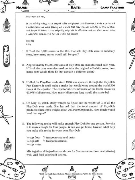 Fractions Word Problems Worksheets by Fraction Worded Problems Worksheets Fraction Word