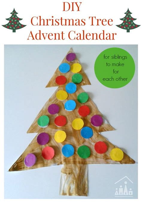 how to make a calendar at home diy tree advent calendars crafty at home