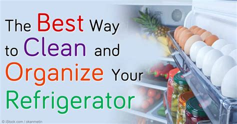 Best Way To Clean A by Best Way To Clean And Organize Your Refrigerator