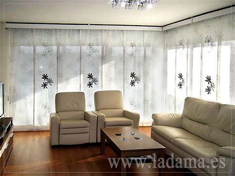 decoracion  salones modernos cortinas paneles japone