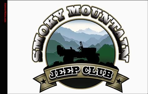 jeep smoky mountain white smoky mountain jeep flag forever wave