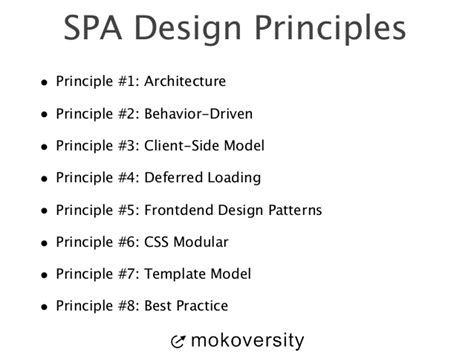application design principles single page application design principles 101