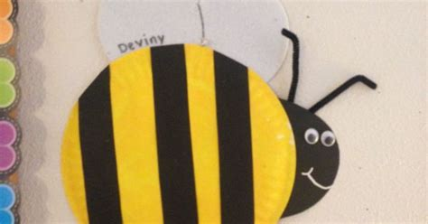 Bumble Bee Paper Plate Craft - paper plate bumble bee for our preschool bug and garden