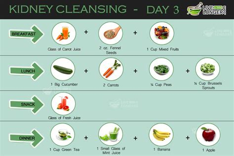 Kidney Cleansing Diet Detox by Kidney Cleansing 7 Day Diet Plan For Detox
