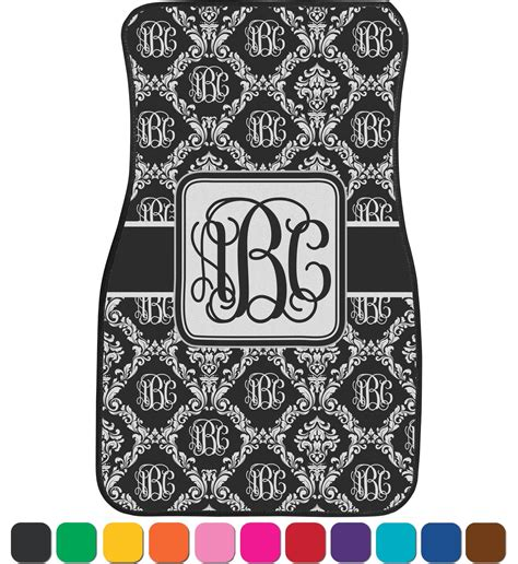 Monogramed Floor Mats by Monogrammed Damask Car Floor Mats Front Seat