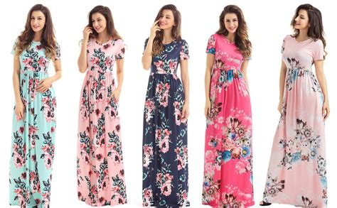 Sleeve Printed Maxi Dress hotapei s floral print dress sleeve